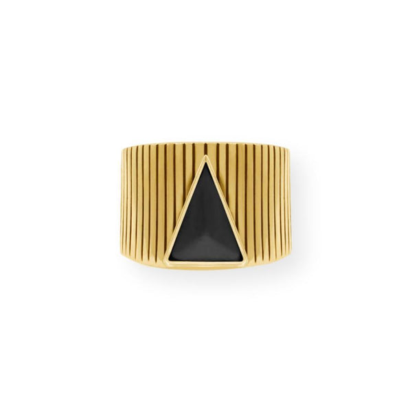 Balance Ring Ring Ceramic by AVA Black
