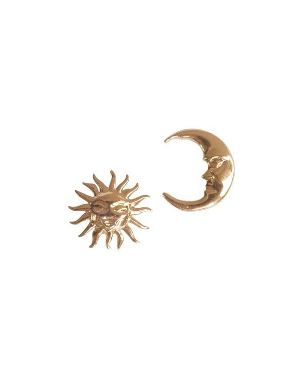 Cosmos Sun Moon Studs Earrings S-kin Studio