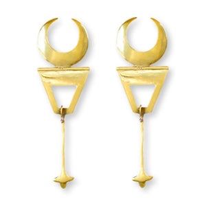 Crescent Spear Earrings Earrings Chicory Chai