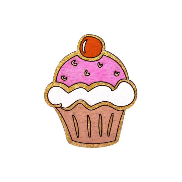 Cupcake Pin Brooch Yes Please!