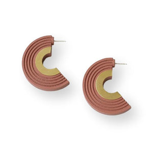 Curve Hoops Earrings Wolf & Moon