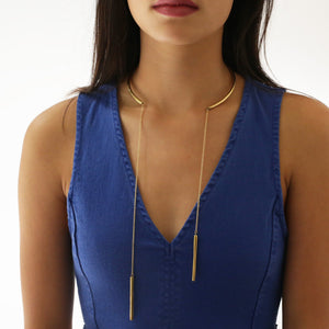 Cylinder Lariat Collar Necklace Necklace Soko