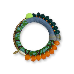 Diyen Bracelet Bracelets Toubab Paris Green & Orange