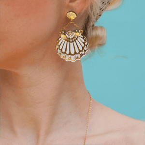Fan Clam Stud Earrings Earrings Rosita Bonita