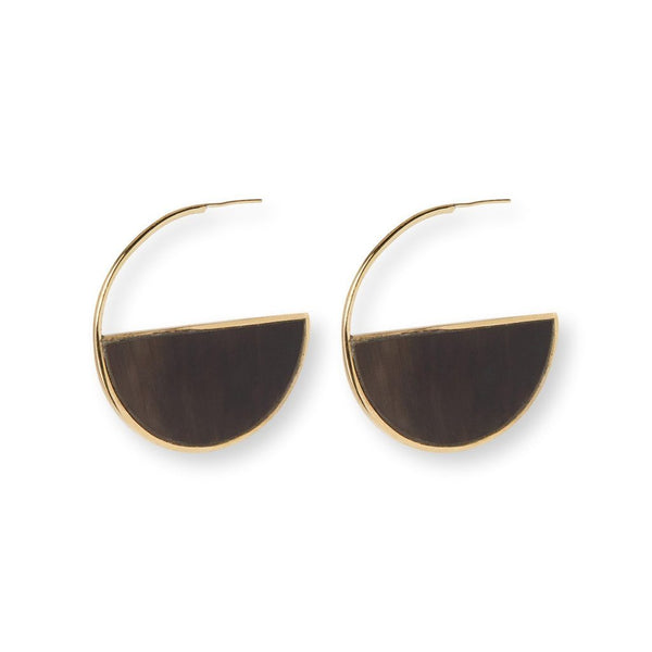 Half Moon Studs Earrings Soko