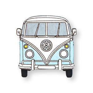Hippie Van Pin Brooch Yes Please! Blue