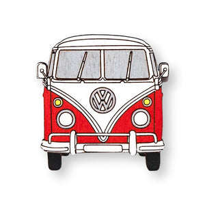 Hippie Van Pin Brooch Yes Please! Red