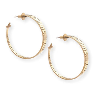 Jaali Hoops Earrings Chicory Chai