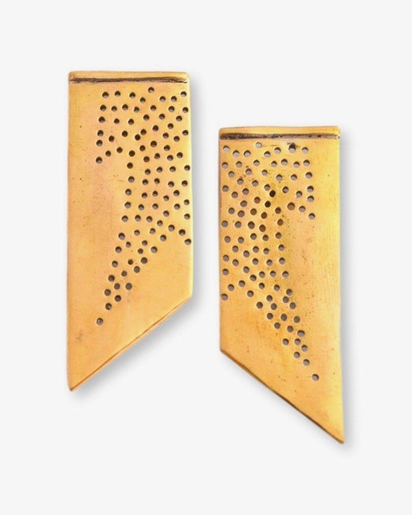Jaali Studs Earrings Chicory Chai