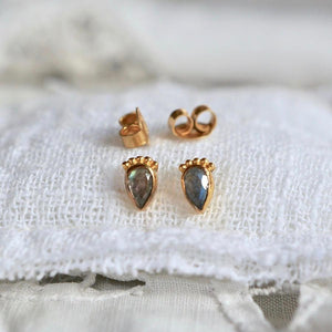 Lonely Heart Studs Earrings Monsieur Blonde Jewels