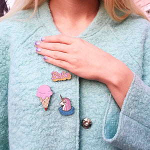 Melting Ice Cream Pin Brooch Yes Please!