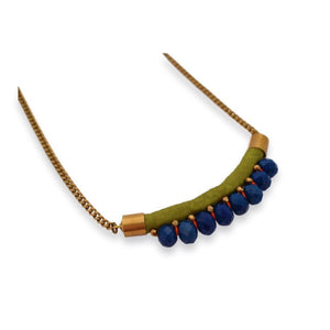 Mini Nafolo Necklace Necklace Toubab Paris Green