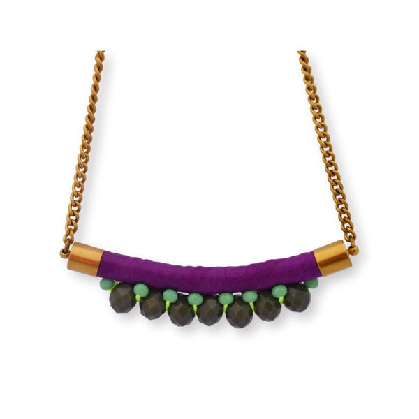 Mini Nafolo Necklace Necklace Toubab Paris Purple