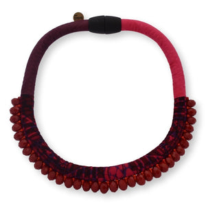 Minipanama Necklace Necklace Toubab Paris Maroon