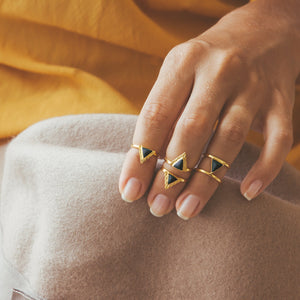 Narya Midi Ring Ring Ceramic by AVA