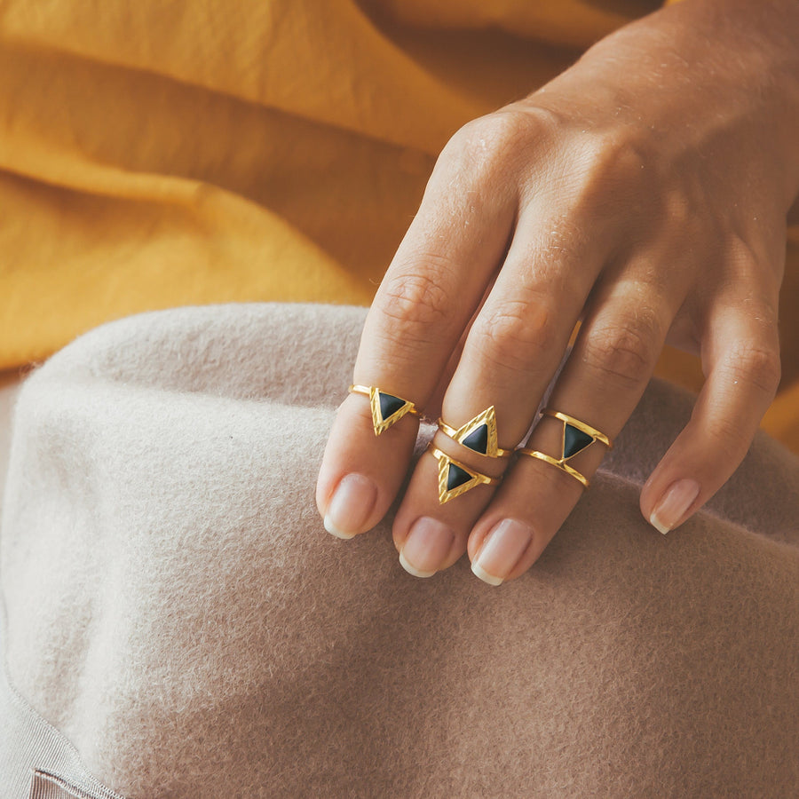 Narya Midi Ring Ring Ceramic by AVA White