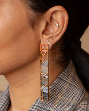 Single Rectangle Earrings Earrings Malvika Vaswani
