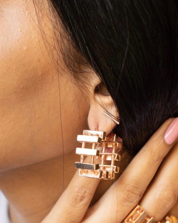 Slat Hoops Earrings Malvika Vaswani