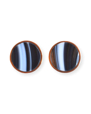 Solid Round Stud Earrings Earrings Malvika Vaswani