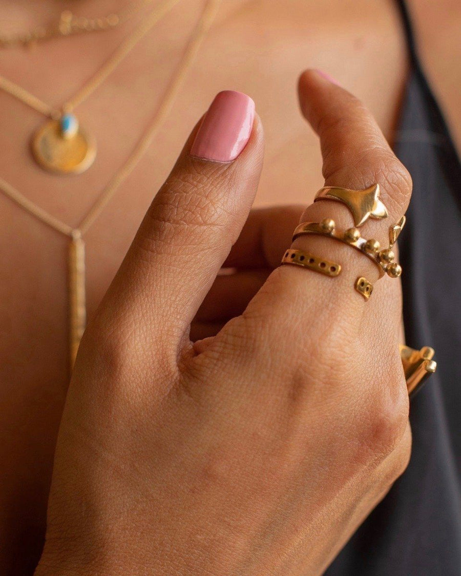 Stackable Ring Set Ring Chicory Chai