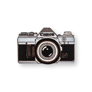 Vintage Camera Pin Brooch Yes Please!