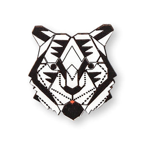 White Tiger Pin Brooch Yes Please!