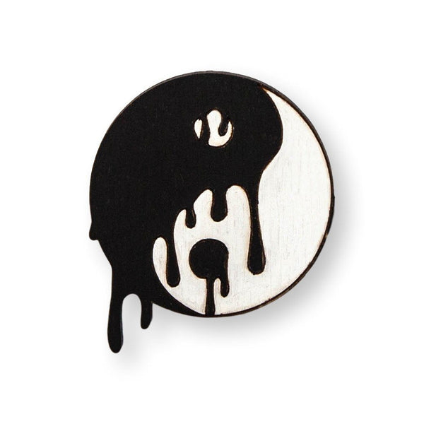 Yin Yang Pin Brooch Yes Please!
