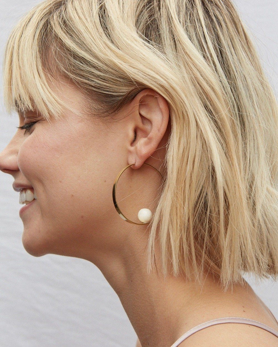 Zuri Orb Threaders Earrings Soko