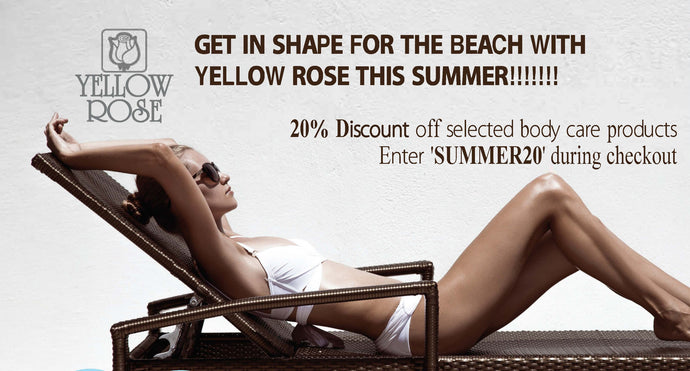 20% DISCOUNT ON SELECTED BODY PRODUCTS, GET IN SHAPE FOR THE BEACH THIS SUMMER!!!!!!