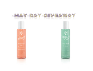 MAY DAY GIVEAWAY.......10 FREE YELLOW ROSE COSMETICS FACE WASHES TO BE WON !!!!