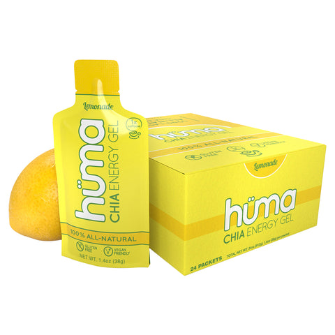 Food Huma Chia Energy Gel Lemonade Bxof24