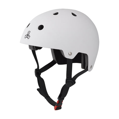 Helmet Triple8 Brain Saver Skate Bike Sm/md White Rubber