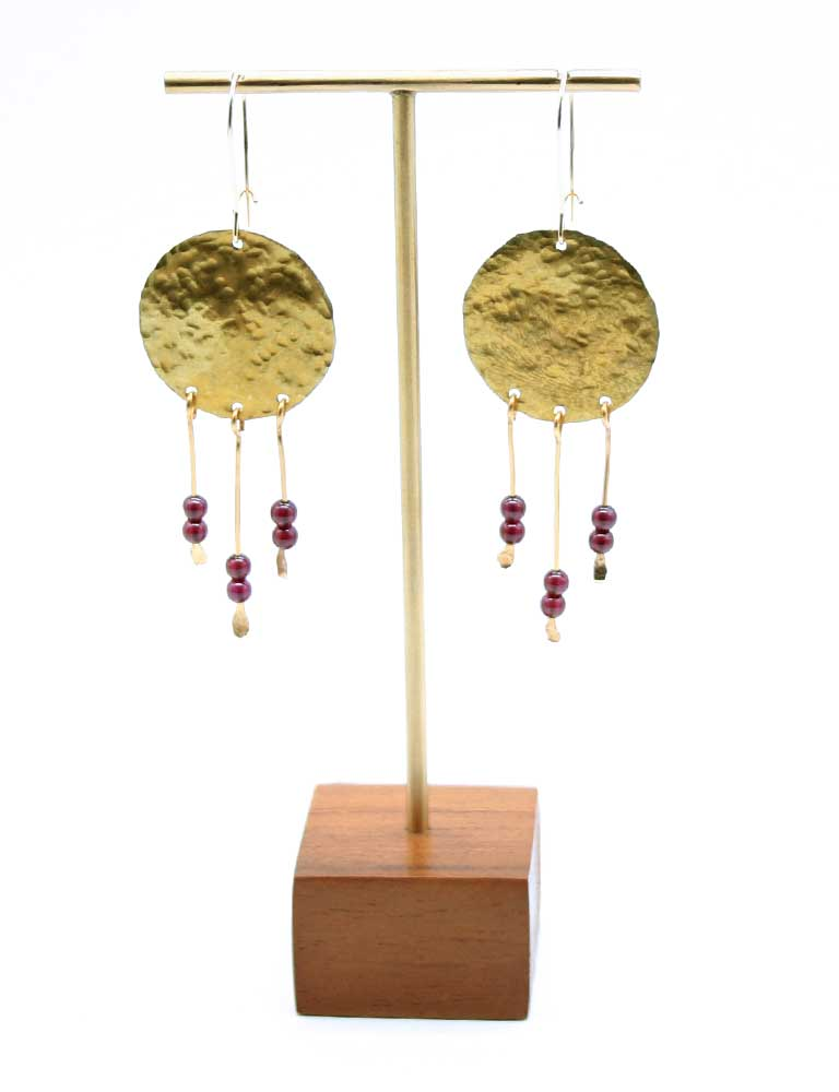 Brass Chime Earrings