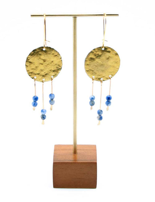 Hammered Brass Chime Earrings