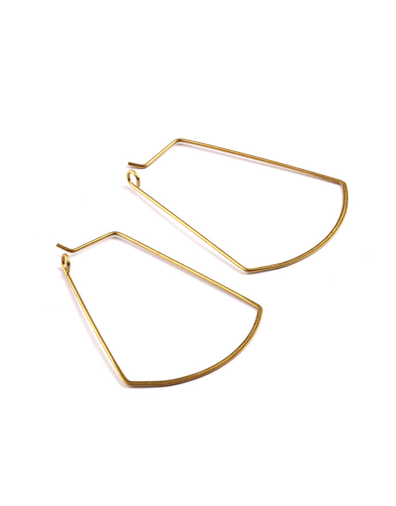 Fan Wire Hoop Earrings