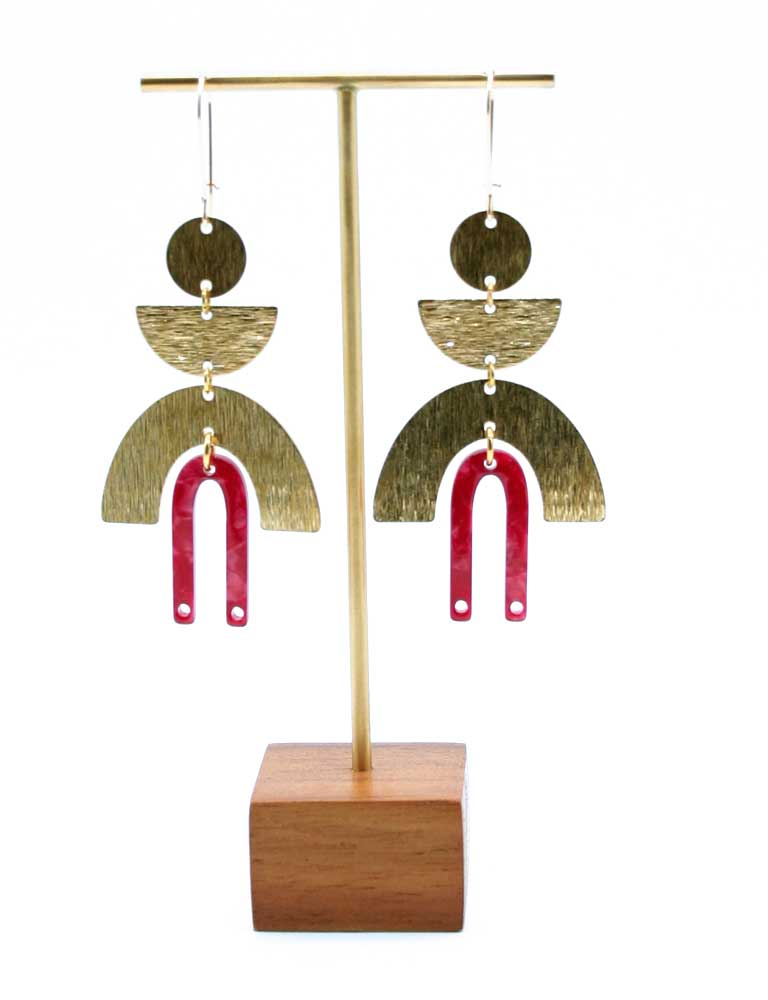 Geo Chime Dangle Earrings