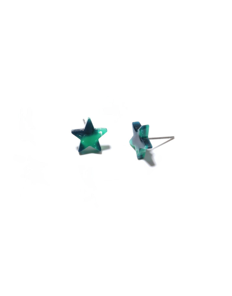 Star Resin Stud Earrings