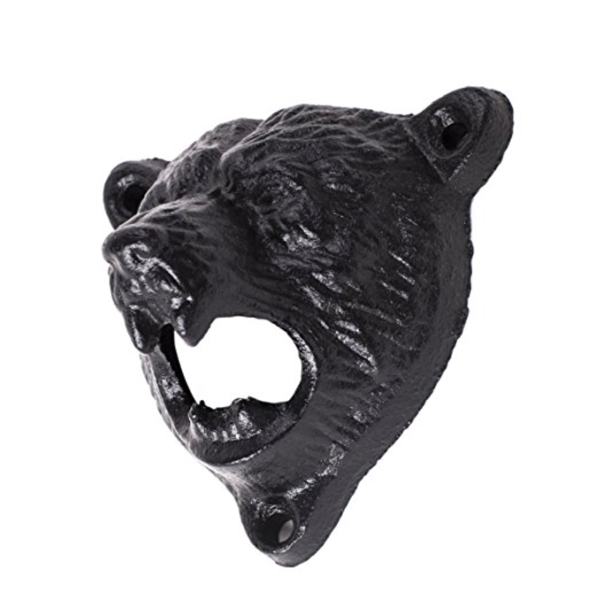 Bear Wall Mount Bottle Opener