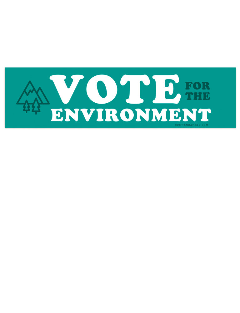 Vote for the Environment Bumper Sticker