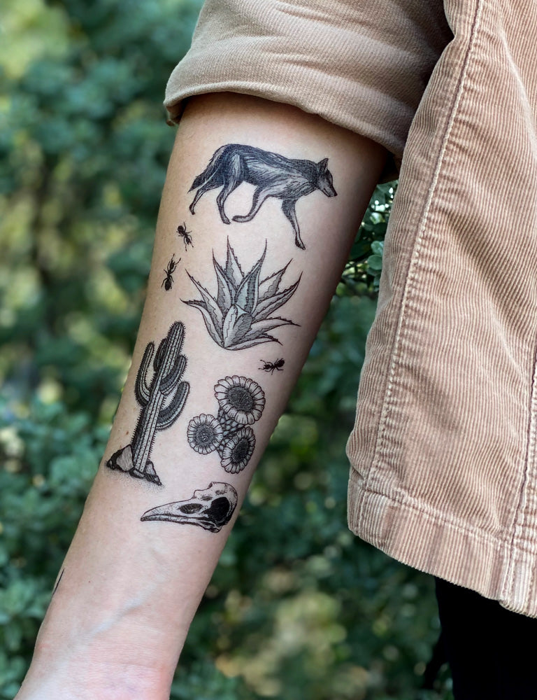 Desert Wild Temporary Tattoo