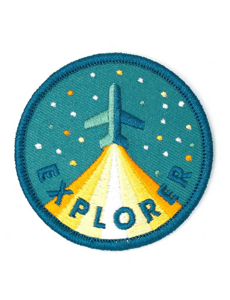 Explorer Embroidered Iron-On Patch