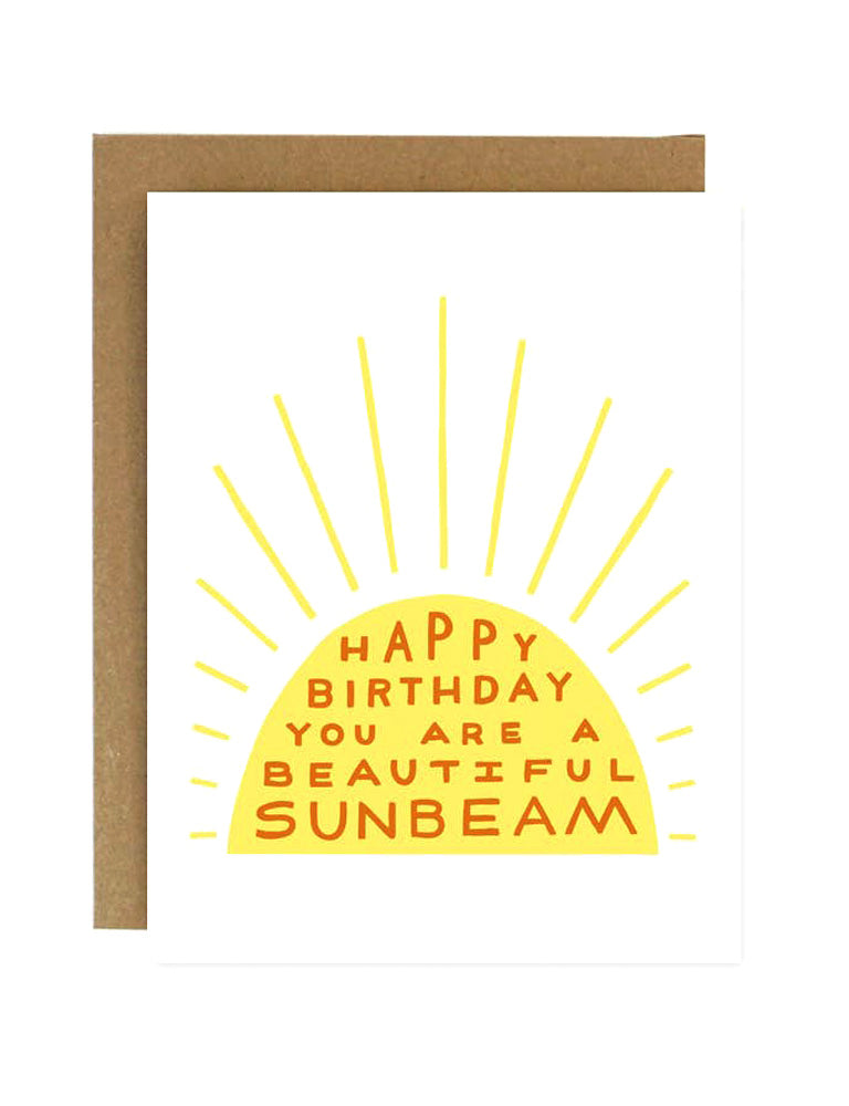 Happy Birthday Sunbeam Card