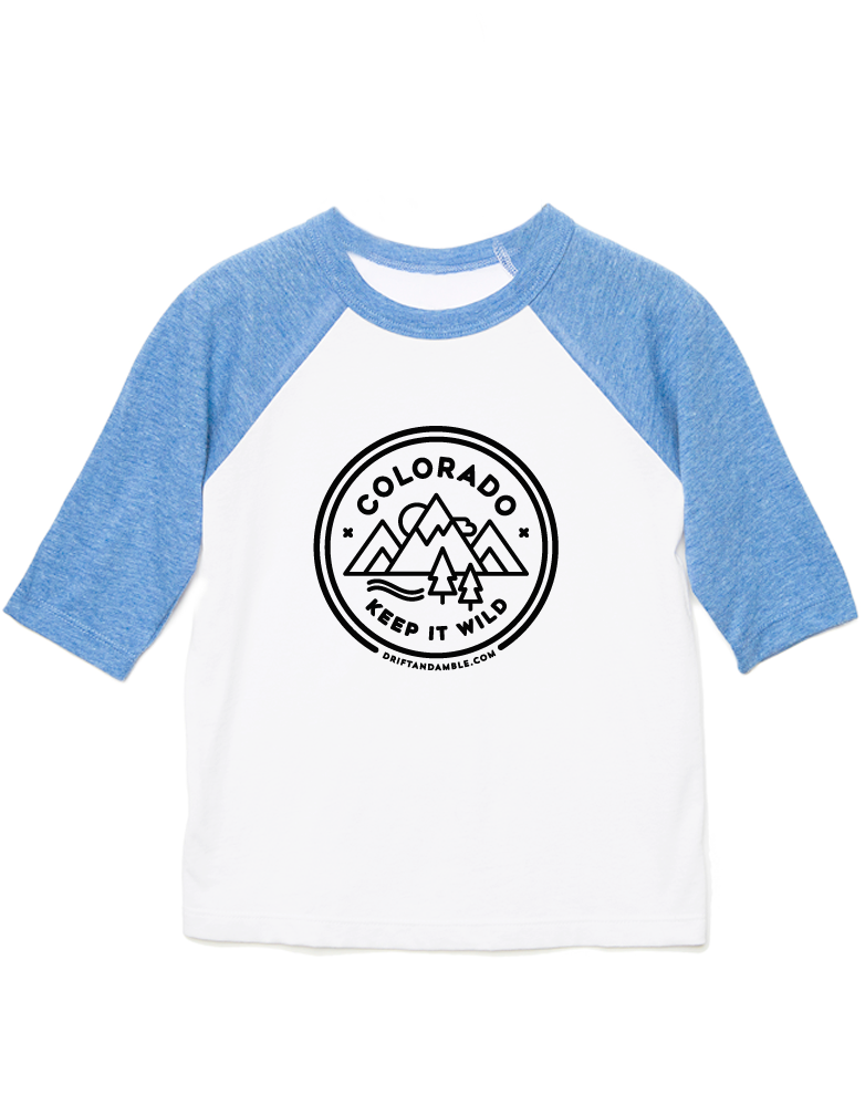 "Kids ""CO Keep It Wild""  Baseball Tee"