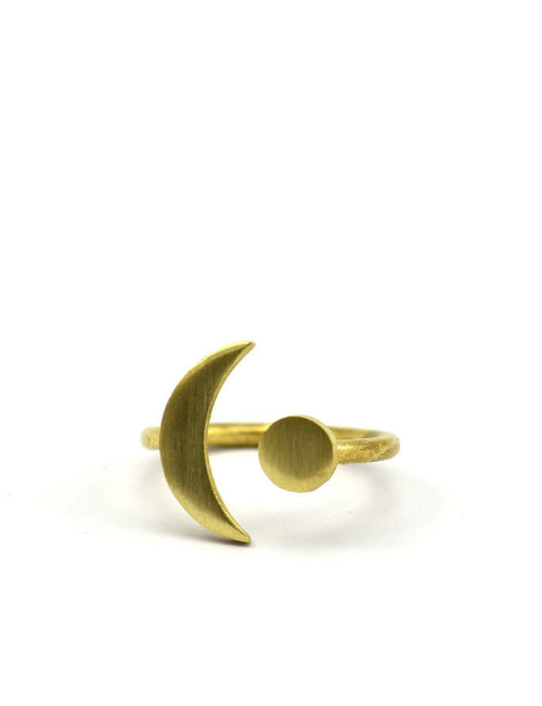 Moon & Sun Adjustable Ring