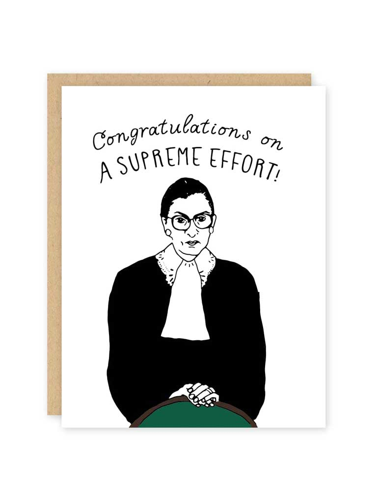 Congratulations On A Supreme Effort!