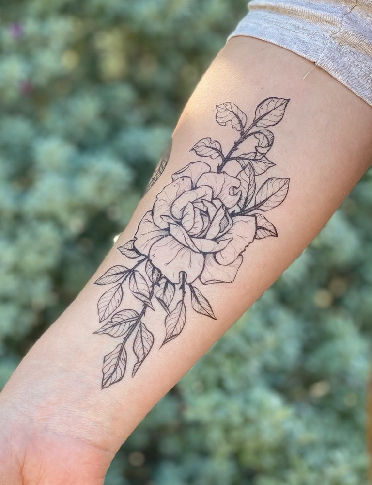 Rose Blossom Temporary Tattoo