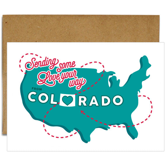 Sending Love From Colorado - Card