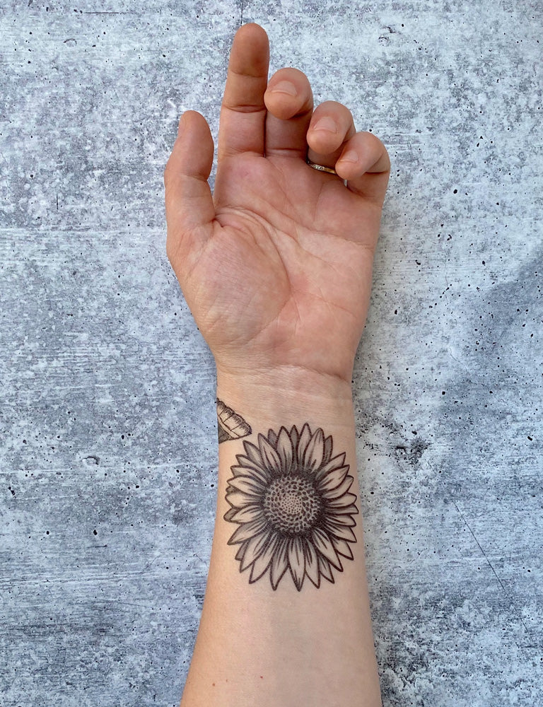 Sunflower Temporary Tattoo