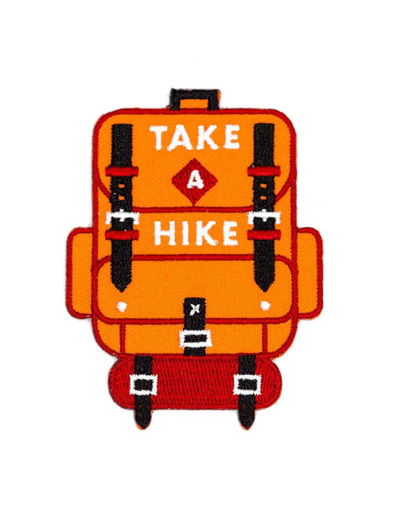 Take A Hike Embroidered Iron-On Patch