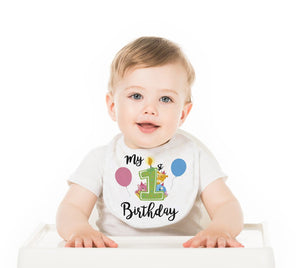 My First Birthday Baby Bib - Potter's Printing